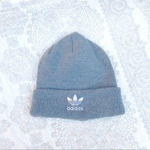 Adidas Gray Trefoil Logo Beanie Hat